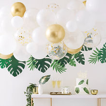 BS-414 Gold Chrome Balloon Arch with Euc