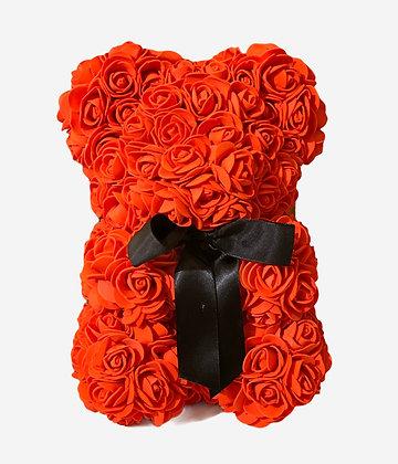 Small Flower Foam Bear - Red