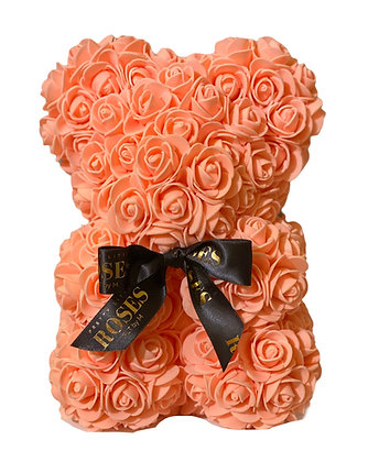 Small Flower foam bear - Salmon