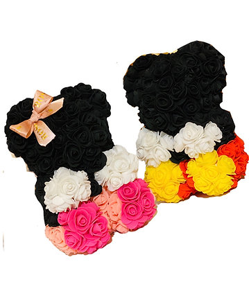 Small flower foam bear - Minnie/Mickey