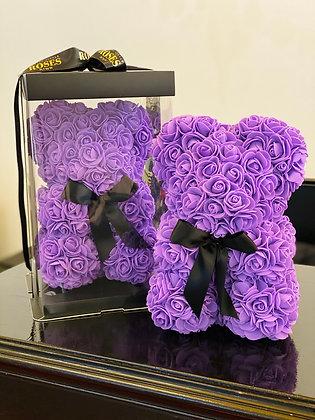 Small Flower Foam Bear - Purple