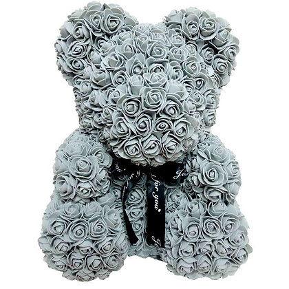 Floral Foam Bear - Grey
