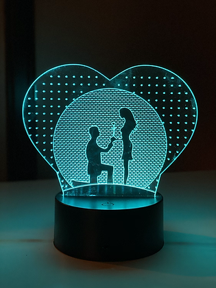 LED LAMP - Will you marry me design