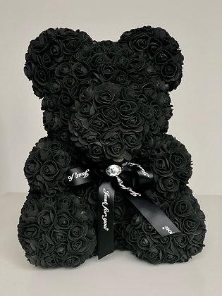 Flower Foam Bear - Black