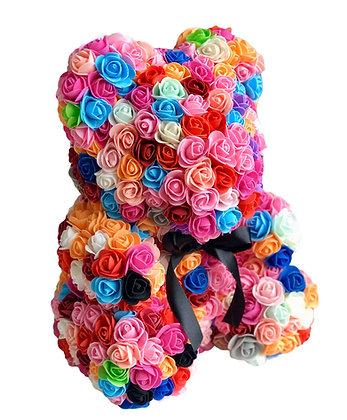 Rainbow flower bear in pink box