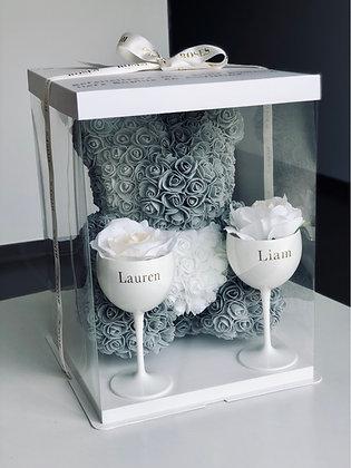 Foam Flower Bear + Glasses