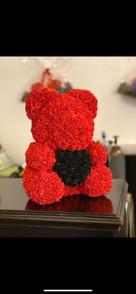 FlowerBear - Red with black heart