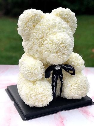 Floral Foam Bear - Off-white