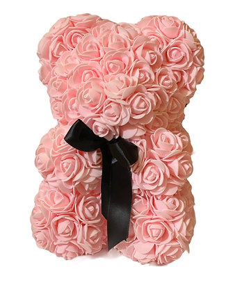Small Flower Foam Bear - LIGHT Pink