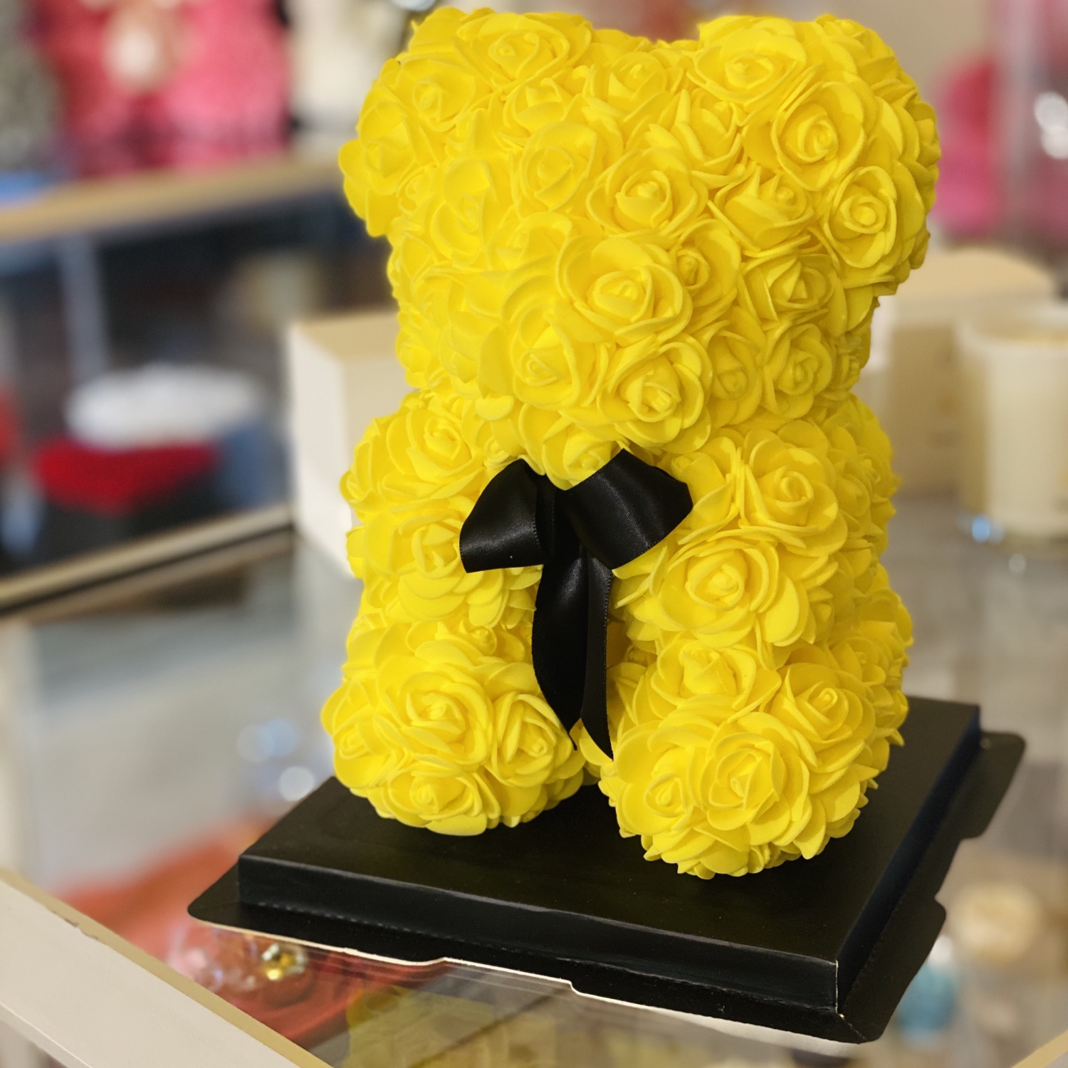 Small Flower Bear - Yellow