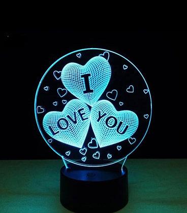 LED LAMP - I LOVE YOU heart