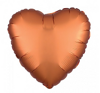 orange heart foil balloon antwerp