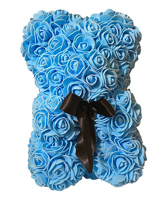 Small Flower Foam Bear - Light Blue