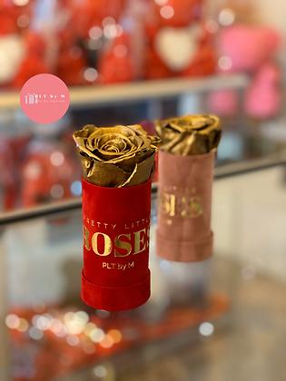 1 Rose Velvet Box - Gold Preserved Rose