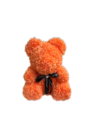 Flower Foam Bear - Orange