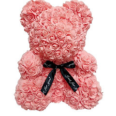 Flower Foam Bear - Salmon Pink