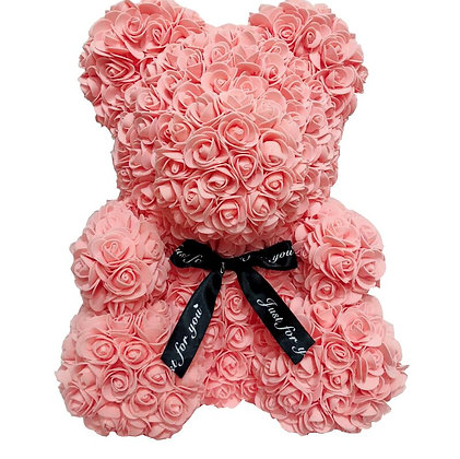 Flower Foam Bear - Salmon Pink