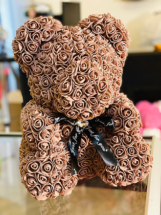 Flower Foam Bear - Brown