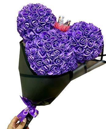 Minnie Bouquet - Purple with crown