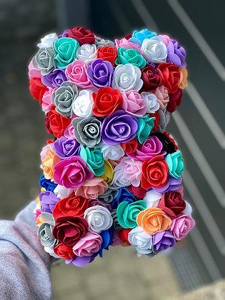 Small Flower Foam Bear - Rainbow