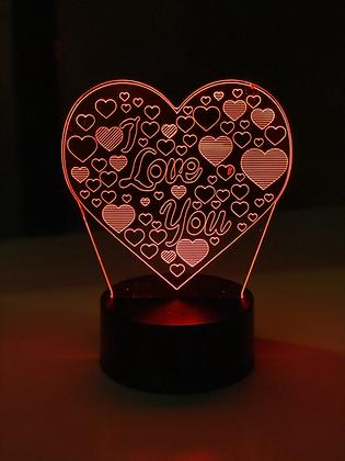 LED Lamp - i love you heart design
