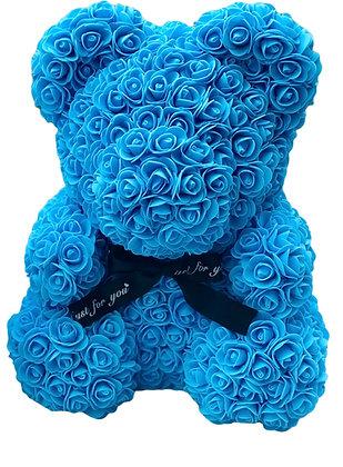 Flower Foam Bear - Light Blue