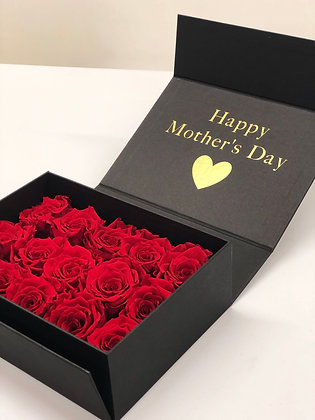 Box in a Box - black with red roses (last a year)