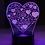 Thumbnail: LED Lamp - i love you heart design