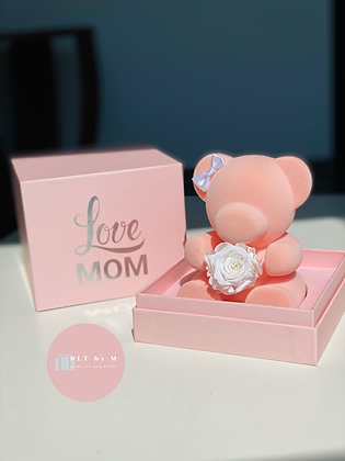Small Mother's Day Pink Bear with Rose