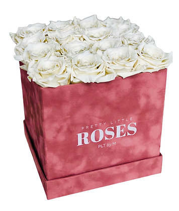 La Mignonne Square Pink Velvet - Choose Color Roses