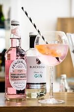 Fentimans pink grapefruit tonic and Blac