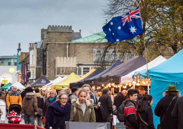Big Sussex Market in New Road Brighton (
