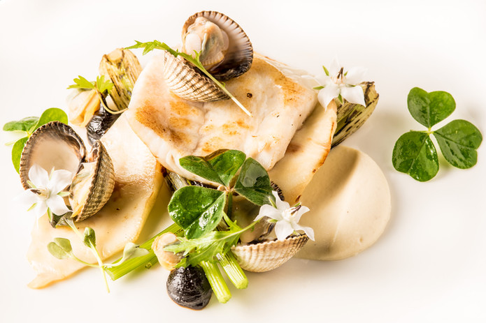 Fish and clam dish at Jeremys - credit J