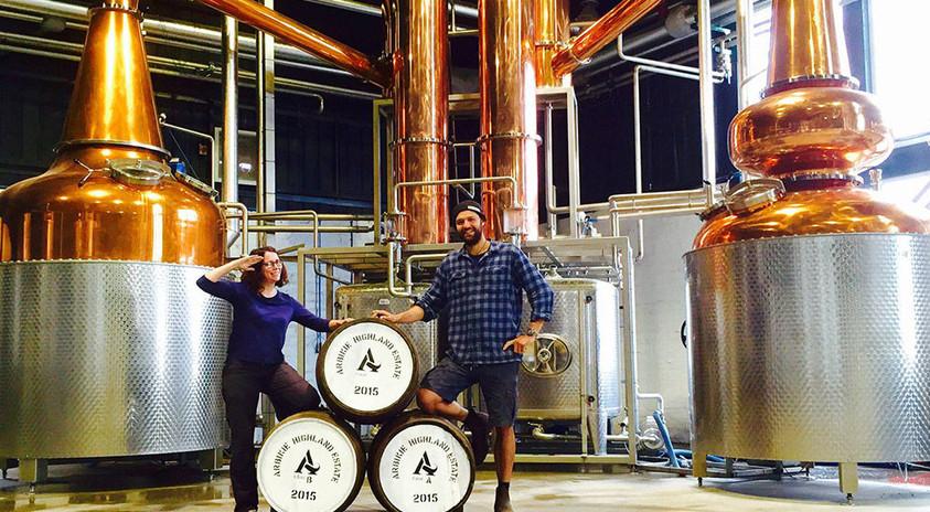 Master Distiller, Kirsty Black and Chris
