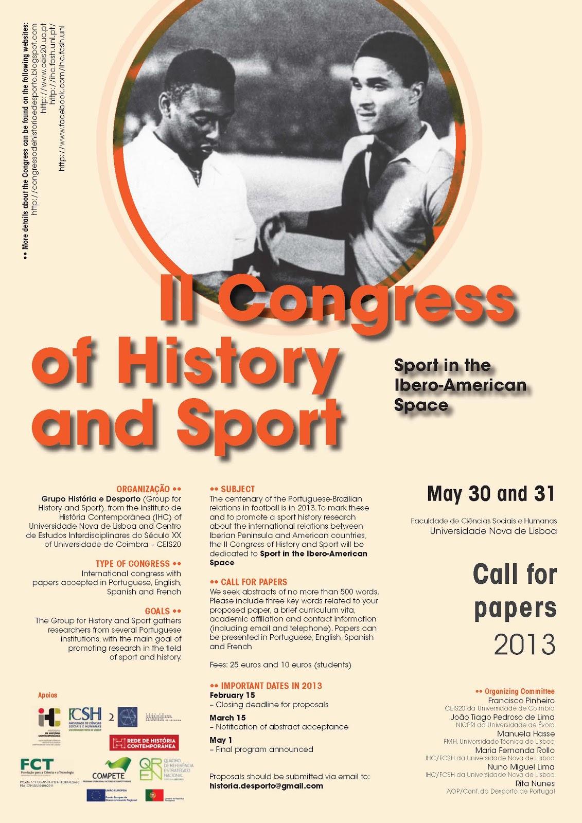 II cartaz congresso historia e desporto