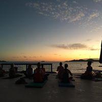 sunset yoga classes at Nanny Cay Tortola