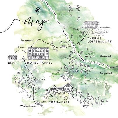 Landkarte Die Träumerei: So kommt ihr zu uns