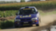 Ryan Champion in Subaru Impreza N555 BAT Rally Car