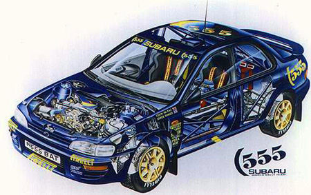 Subaru Impreza Rally Car N555 BAT