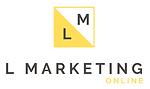 L Marketing Online Logo white background