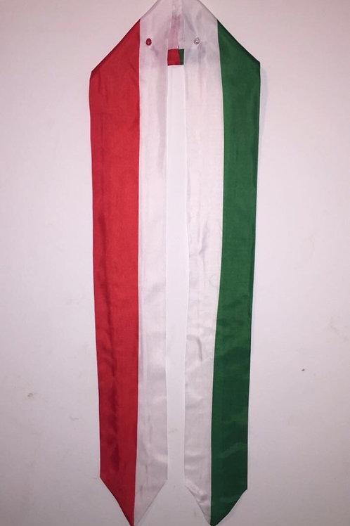 Italy graduation stole/ sash