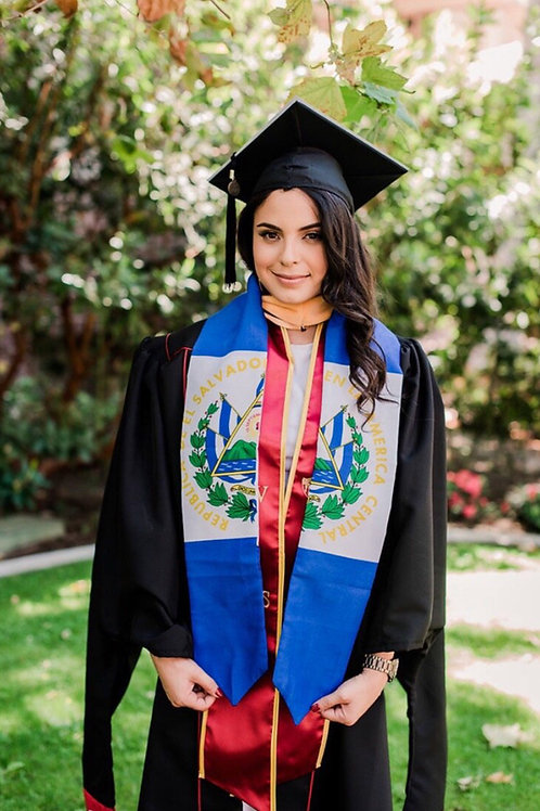 El Salvador graduation stole