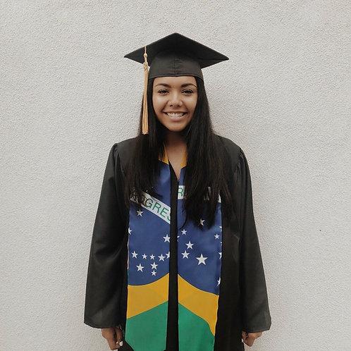 Brazil graduation stole/sash