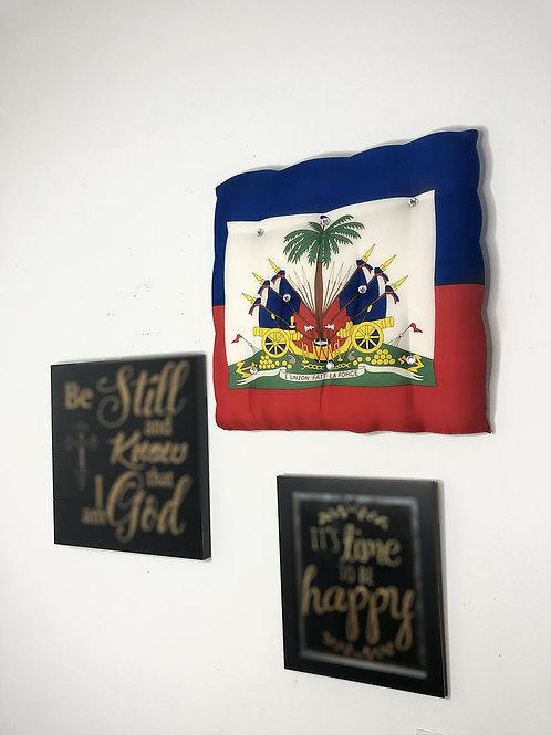 Haitian flag wall frame