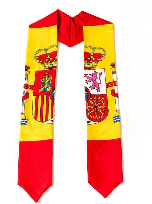 Spain graduation sash