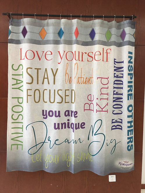 KRISTIKOLLECTIONSLLC Inspirational Shower Curtain06-8% Linen
