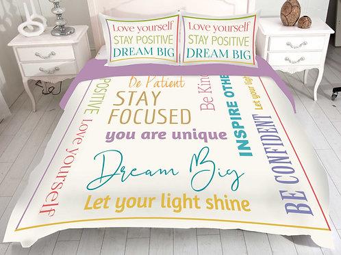 Self-Affirming Reversible Comforter Set-3 colors