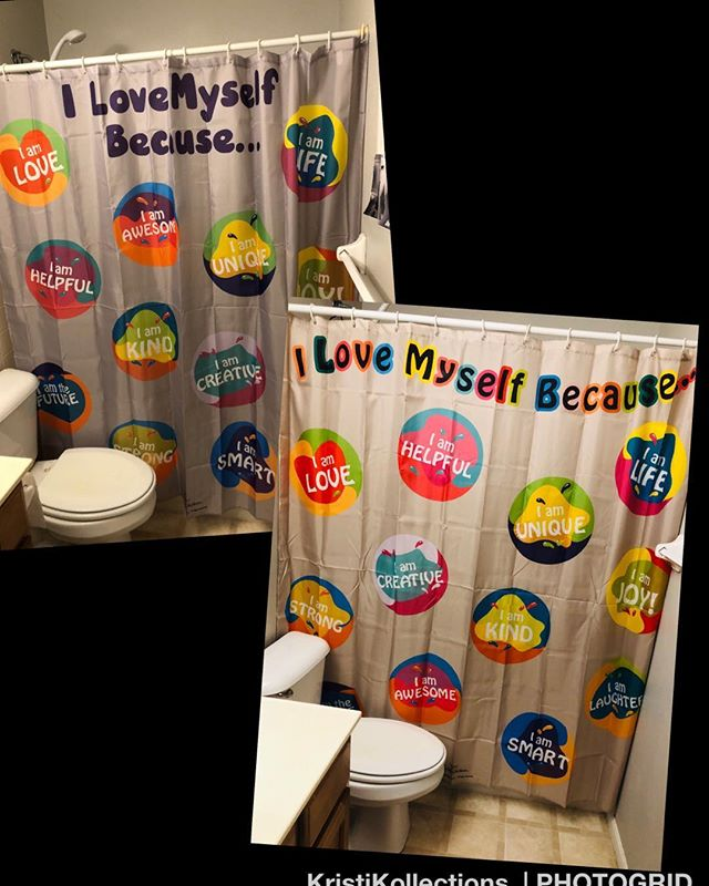 Self-Affirmation Shower Curtain