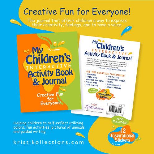 My Children's Interactive Activity Book & Journal