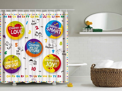 Children's Inspirational/Educational Shower Curtain 3-6yrs